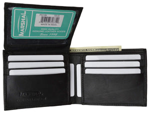 Marshal Clothing, Shoes & Accessories Black Men's Premium Leather Quality Wallet P 53 (C)