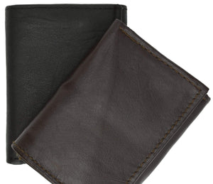 Marshal Clothing, Shoes & Accessories Black Mens Genuine Leather Trifold Wallet 8 Credit Card Slots ID Window 1155