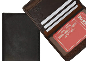 Marshal Clothing, Shoes & Accessories Black Mens Lambskin Leather Wallet Credit Card ID Holders 1169 (C)