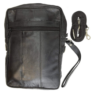 marshal Clothing, Shoes & Accessories black Mens Leather Carrying Bag