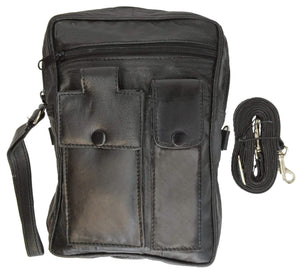 Mens Leather Carrying Bag - menswallet