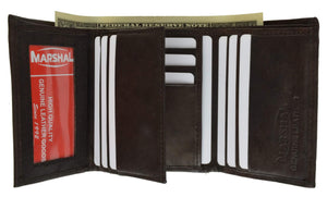 marshal Clothing, Shoes & Accessories Black Mens Trifold Wallets