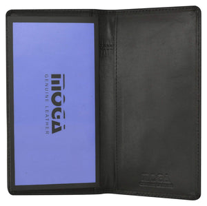 Moga Handmade Genuine Leather Checkbook Cover Italian Design 90156 - wallets for men's at mens wallet