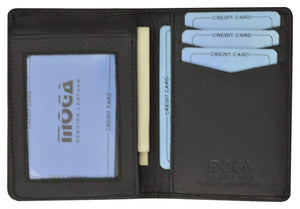 Moga Handmade Leather L Shape Bifold ID Card Holder Wallet  90139 - wallets for men's at mens wallet