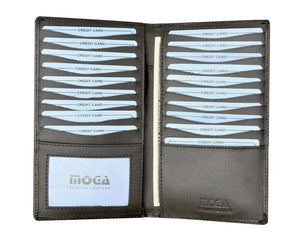 Moga High End Quality Handmade Leather Bifold Credit Card Holder 91529 - wallets for men's at mens wallet