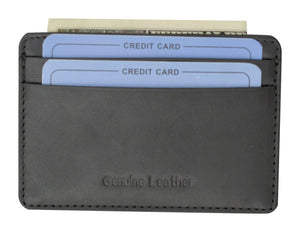 Marshal Clothing, Shoes & Accessories Black Moga High Quality Genuine Leather Slim Credit Card Holder 90170