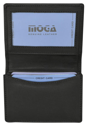 Marshal Clothing, Shoes & Accessories Black Moga Italian Design Business Card Holder Handmade Leather 90070