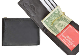 marshal Clothing, Shoes & Accessories Black Money Clip with Credit Card Holder