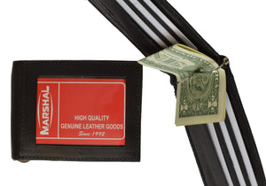 marshal Clothing, Shoes & Accessories Black Money Clip With I.D. Outside