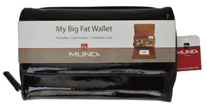 Marshal Clothing, Shoes & Accessories Black Mundi My Big Fat Wallet Organizer and Checkbook Cover