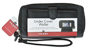 Marshal Clothing, Shoes & Accessories Black Mundi Under Cover Ladies Wallet With Cellphone Holder