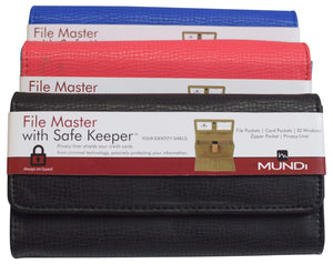 Mundi Womens File Master With Safe Keeper Clutch Ladies Wallet - wallets for men's at mens wallet