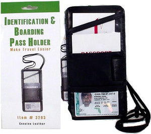 marshal Clothing, Shoes & Accessories BLACK Neck ID HOLDER< Best for Travel
