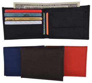 Marshal Clothing, Shoes & Accessories Black New Boys Slim Thin Nylon Bifold Wallet with Coin Pouch