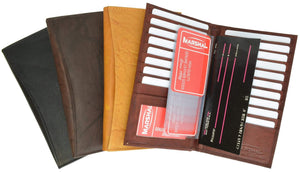 Marshal Clothing, Shoes & Accessories Black New Genuine Leather Bifold Credit Card ID Holder 1529 CF (C)