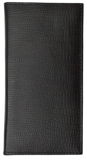 New Genuine Leather Checkbook Cover Case Snake Pattern 156 SN (C) - menswallet