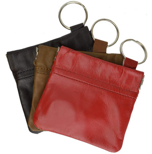 New Genuine Leather Coin Change Purse With Elastic Closure - wallets for men's at mens wallet