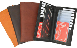 New Mens Leather Long Wallet Pockets ID Card Clutch Bifold Purse 1528 CF (C) - wallets for men's at mens wallet