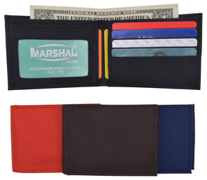 Marshal Clothing, Shoes & Accessories Black New Nylon Slim Compact Boys ID Card Bifold Wallet