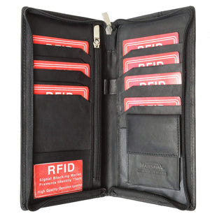 Passport Cover ID Holder Wallet Credit Card Travel Case RFID 663 (C) - wallets for men's at mens wallet