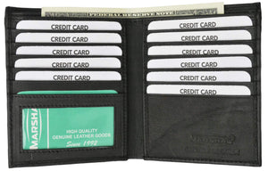 Marshal Clothing, Shoes & Accessories Black Premium Lambskin Leather Bifold Hipster Credit Card Wallet P 2502 (C)