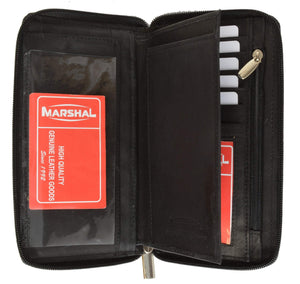marshal Clothing, Shoes & Accessories Black Safe Checkbook Credit Card Holder 653