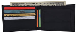 Black Slim Thin Kids Nylon Bifold Wallet with Coin Pouch NEW!! - wallets for men's at mens wallet