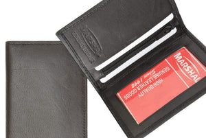 Marshal Clothing, Shoes & Accessories Black Small Credit Card Holder with ID Window 69