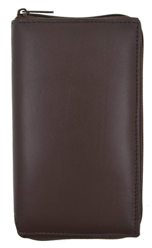Marshal Clothing, Shoes & Accessories Black Swiss Marshal RFID Blocking Premium Genuine Leather Long Zip Around Business & Credit Card Case Holder Bifold Wallet SM-RFID-P729