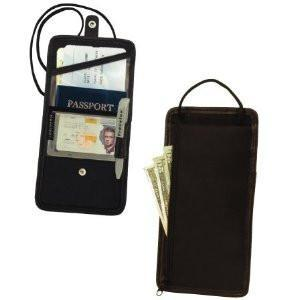 marshal Clothing, Shoes & Accessories Black Travelon-ID and Boarding Pass Holder with Snap Closure