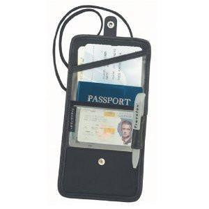 marshal Clothing, Shoes & Accessories Black Travelon ID and Boarding Pass / Passport Holder with Snap Closure