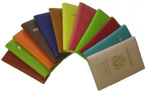 Genuine Leather Plain Passport Cover by Marshal Wallet - wallets for men's at mens wallet