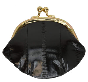 Marshal Clothing, Shoes & Accessories Black Women Eel Skin Small Coin Purse E 10 SM