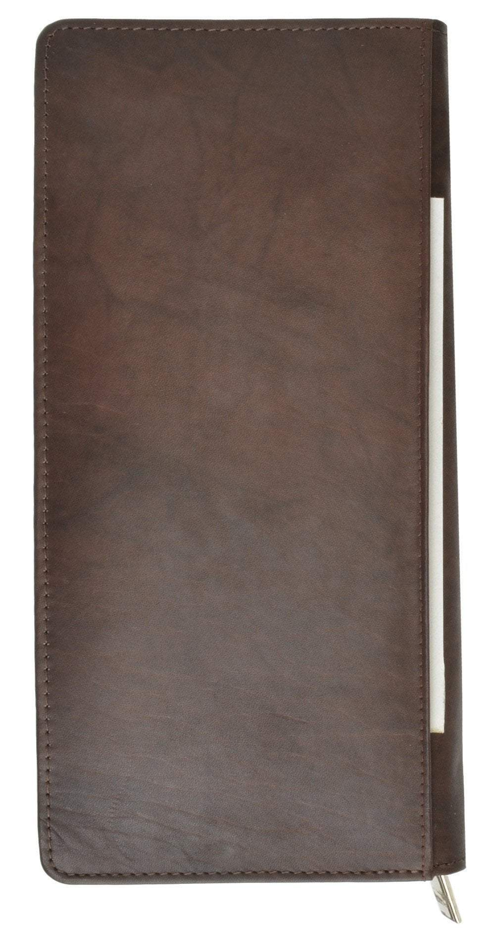 7502e9ae706b Zip Around Leather Travel Wallet with Passport and Boarding Pass Holder ...