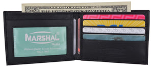 Boys Slim Compact ID and Card Bifold Leather Wallet - wallets for men's at mens wallet