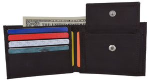 Boys Slim Thin Kids Nylon Bifold Brown Wallet with Coin Pouch Gift!!! - wallets for men's at mens wallet