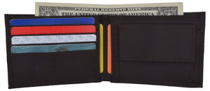 Marshal Clothing, Shoes & Accessories Boys Slim Thin Kids Nylon Bifold Brown Wallet with Coin Pouch Gift!!!