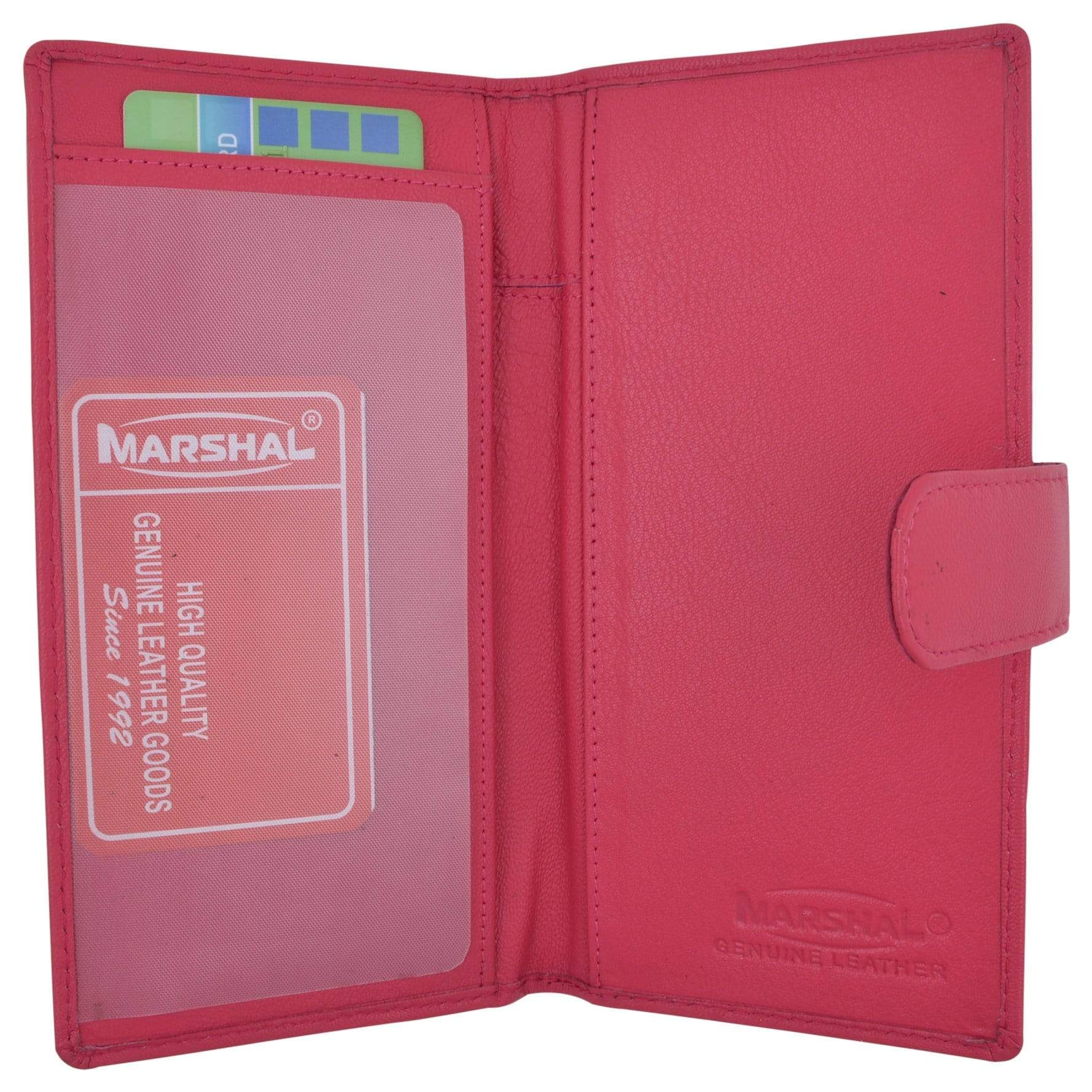 Marshal Genuine Leather New Checkbook Covers Case Wallet