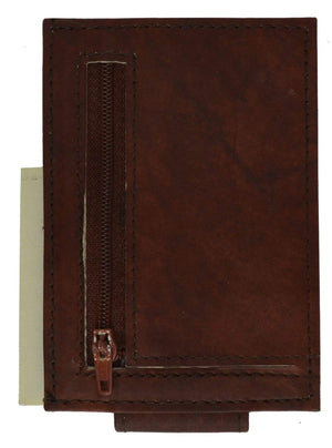 marshal Clothing, Shoes & Accessories BROWN DEEP POCKET WALLET AND MONEY CLIP