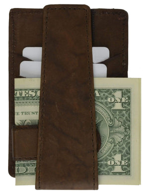 Genuine Leather Deep Pocket Wallet and Money Clip by Marshal Wallet - wallets for men's at mens wallet