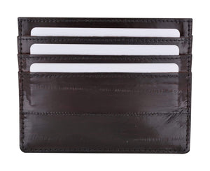 Marshal Clothing, Shoes & Accessories Black Eel Skin Soft Leather Credit Card Holder  E 170
