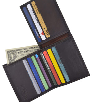 Genuine Lambskin Soft Leather Bifold Credit Card L Shape Wallet 51 - wallets for men's at mens wallet