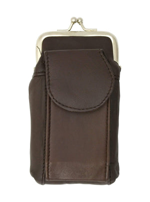 Marshal Clothing, Shoes & Accessories Black Leather Cigarette Holder with Cellphone Pocket 1842 (C)