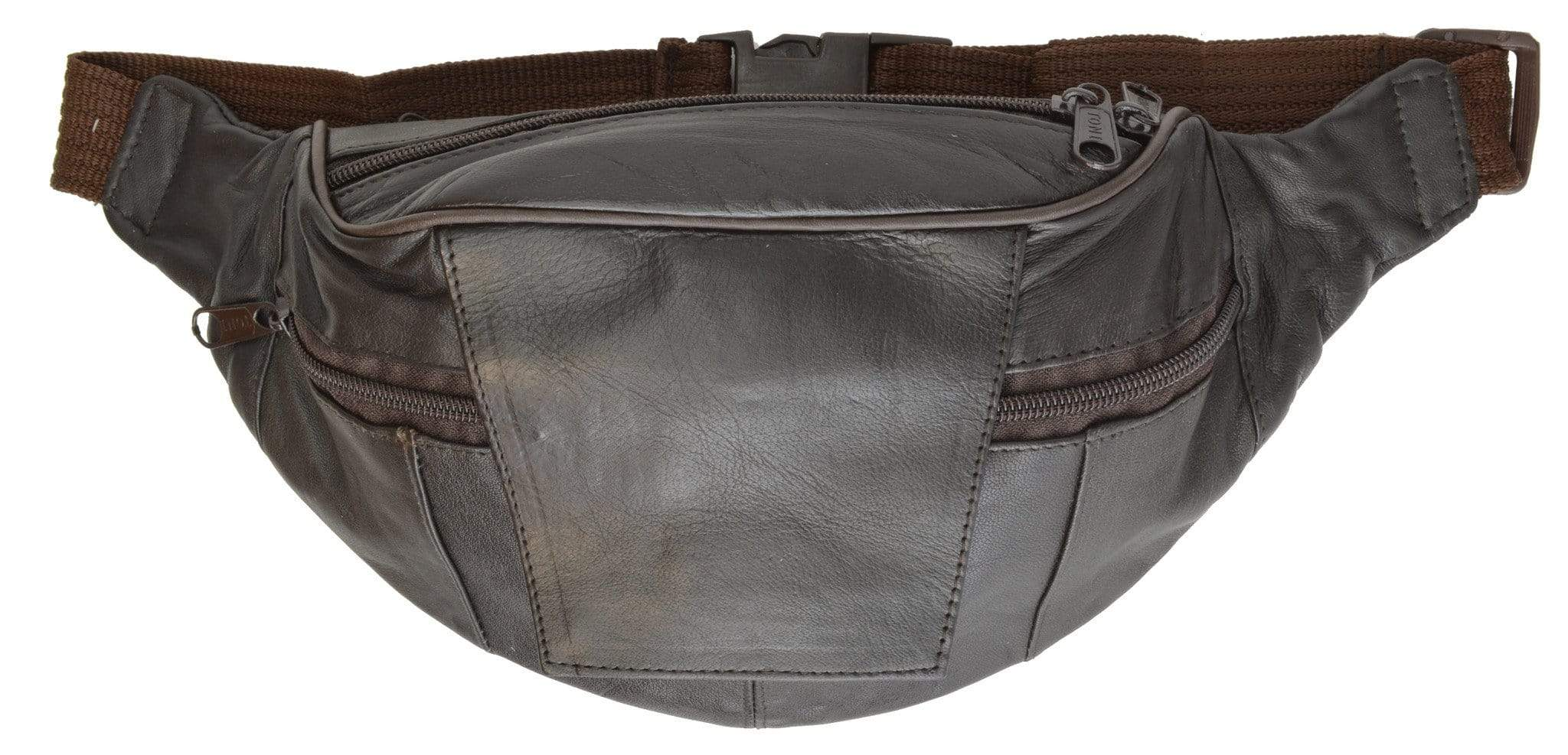 Leather Fanny Pack Waist Bag CellPhone Pouch adjustable Waist Strap by Marshal