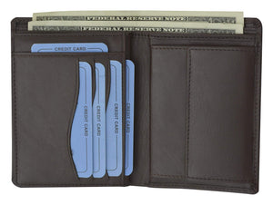 Moga European Hispter Bifold High End Leather Wallet with Coin Pocket 90518 - wallets for men's at mens wallet