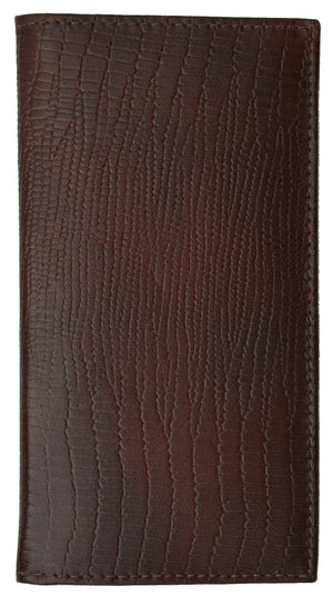 Marshal Clothing, Shoes & Accessories Black New Genuine Leather Checkbook Cover Case Snake Pattern 156 SN (C)
