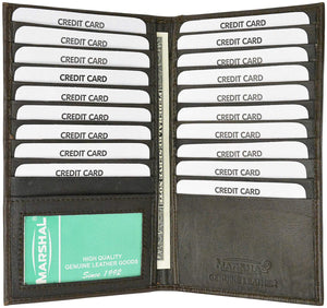 Marshal Clothing, Shoes & Accessories Black Premium Leather Bifold Credit Card ID Holder P 1529 (C)