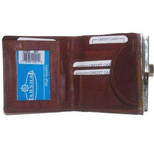 Marshal Clothing, Shoes & Accessories Burgundy Ladies Small Genuine Leather Credit Card Holder Purse Wallet 901 CF (C)