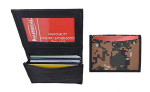 Marshal Clothing, Shoes & Accessories Camo RFID Blocking Premium Leather Business Card Holder Expandable Camouflage