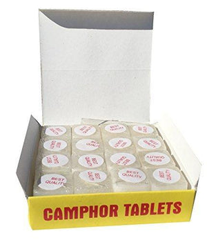 Marshal Clothing, Shoes & Accessories Camphor Tablets from India - 200 grams - 64 tablets (16 blocks of 4) - Kanaiya Brand